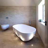 31 best stylish bathroom style design images on pinterest butler janey butler interiors luxury bathroom with freestanding bath tub and john cullen floor lighting mozeypictures Choice Image