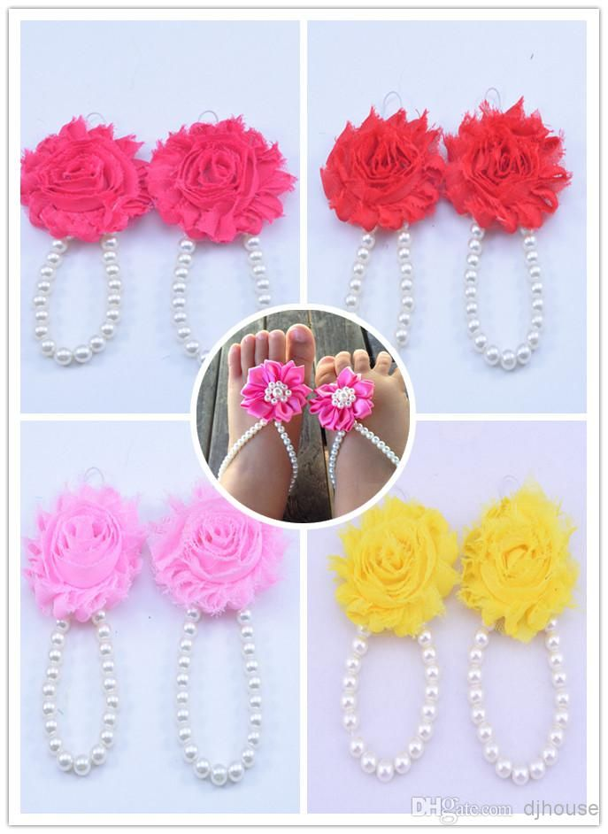Wholesale Baby Girl Shoes - Buy White Pearls Baby And Toddler Barefoot Sandals Baby Jewelry Stunning for Christening's And Flower Girls Baby Accesories Baby Shoes $2.14 | DHgate