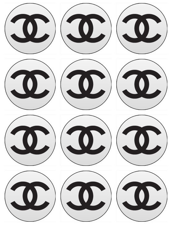 Chanel Edible Cupcake Toppers 12 Chanel inspired by EtsysEdibles, $6.50