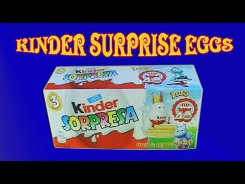 kinder surprise eggs toys unboxing, Chocolate Toys