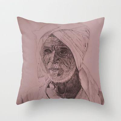 Egyptian Old Man Throw Pillow by otilia elena - $20.00