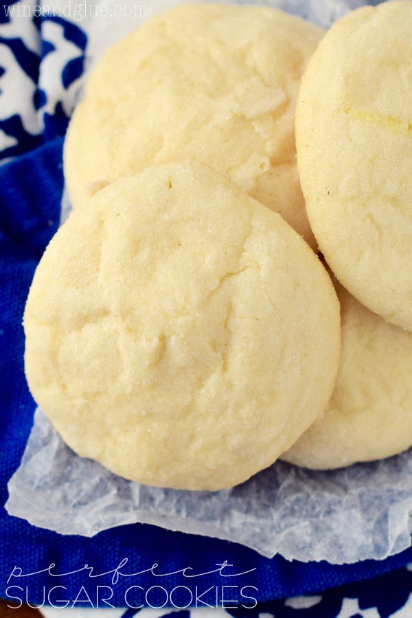These are the perfect sugar cookies! Buttery, delicious, and addictive!