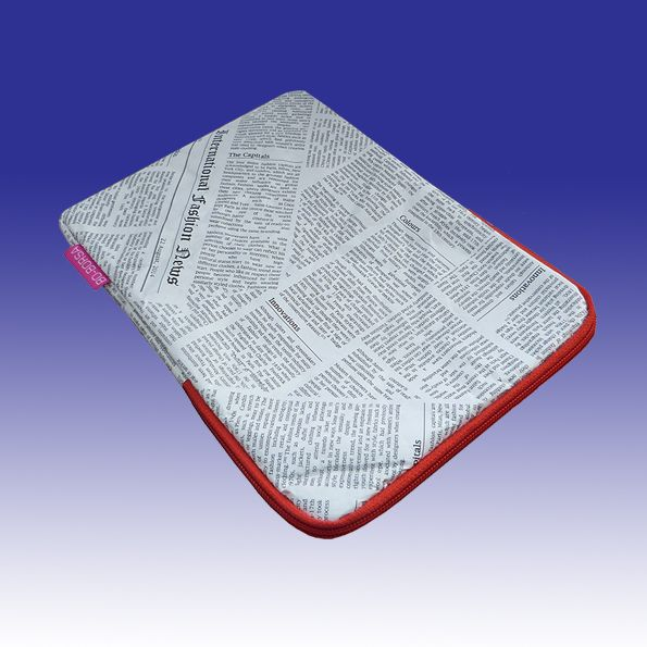 Our fantastic newspaper print padded iPad cover - looks just like newspaper but is super-strong, waterproof, padded, above all, stylish and original!