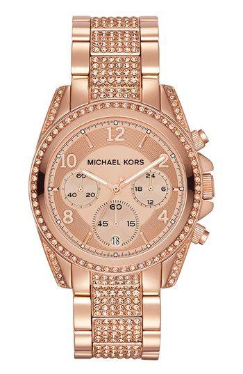 Michael Kors 'Blair' Pavé Crystal Bracelet Watch, 39mm available at #Nordstrom