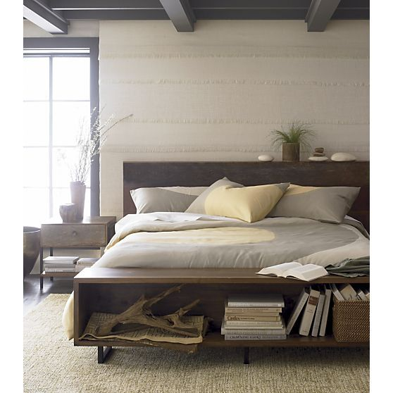Atwood Bed with Nightstand I Crate and Barrel