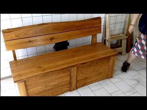 Rustikální lavice s úložným prostorem