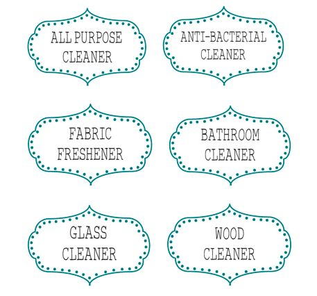 6 Printable Labels For Diy Cleaning Supplies All