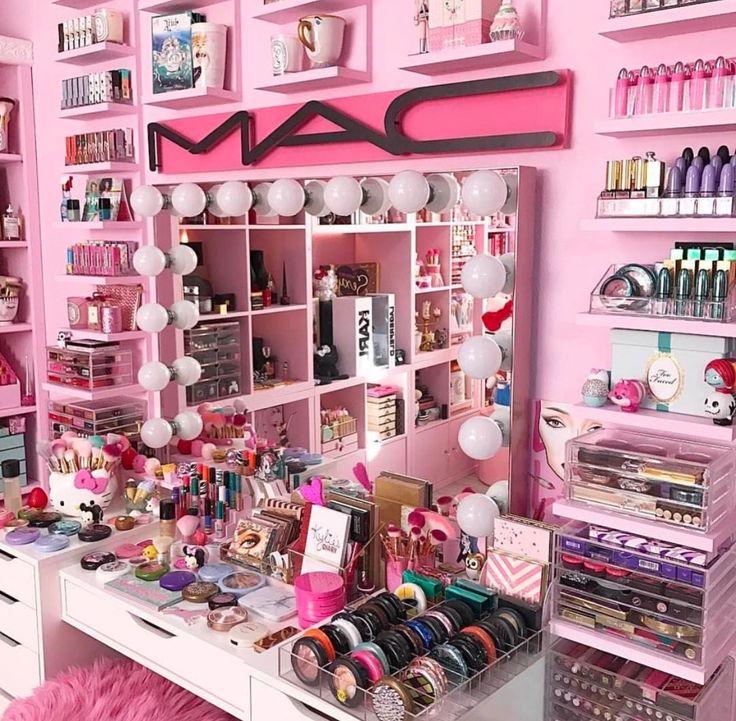 Girly Makeup Vanity Area