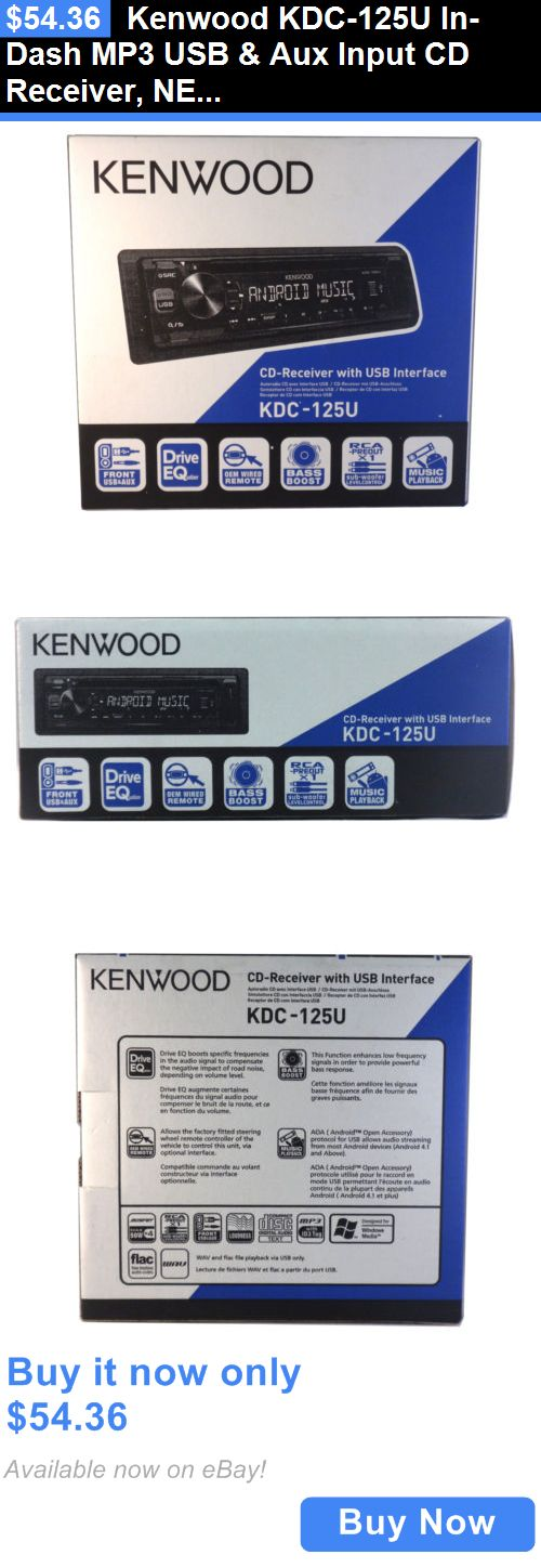 Car Audio In-Dash Units: Kenwood Kdc-125U In-Dash Mp3 Usb And Aux Input Cd Receiver, New BUY IT NOW ONLY: $54.36