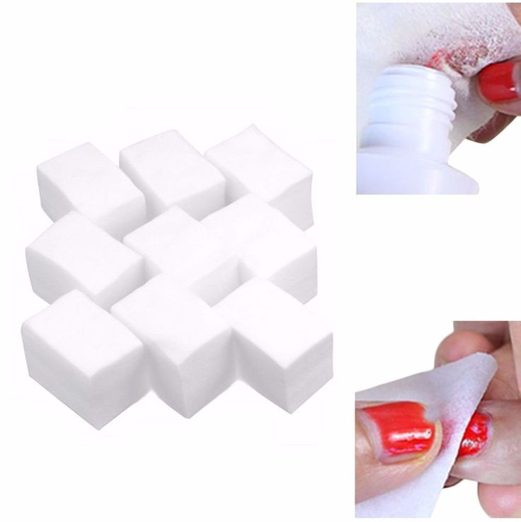 900 x LINT FREE NAIL SOFT COTTON PADS WIPES ART TIPS GEL ACRYLIC POLISH REMOVER #Unbranded