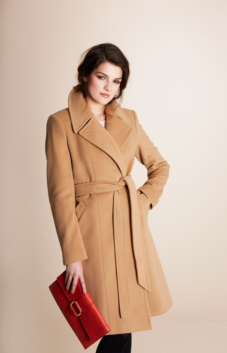 Belted wool and cashmere coat from Paul Costelloe Living Studio