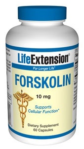 Forskolin  10 mg, 60 capsules  Item Catalog Number: 00300 The ancient medicinal plant Coleus forskohlii is the source of the compound forskolin which possesses unique biological activity. The basic mechanism of action of forskolin is the activation of an enzyme, adenylate cyclase, which increases cyclic adenosine monophosphate (cAMP) in cells.1 Cyclic AMP is perhaps the most important cell-regulating compound. Once formed it activates many other enzymes involved in diverse cellular…