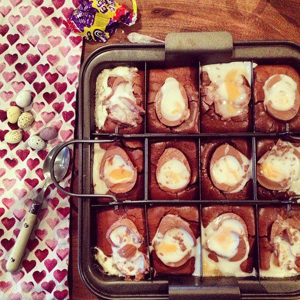 The most indulgent Easter brownies