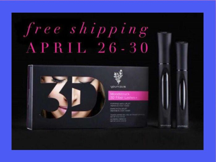 """Great Deal! 5 Days Only!   2 Ways To Do This!!!  1: Free Shipping .... When You Buy Younique's All NEW 3D Fiber Mascara!  2: Free Shipping .... If You """"ADD"""" Younique's 3D Fiber Mascara to The Rest of Your Younique Order!!!  Shop With Me @ SarahMalarkey.com  #FreeShippingFromYounique #FreeMascaraShipping #TheBestMascara #YouniqueFreeShipping #Younique #3DFiberMascara"""