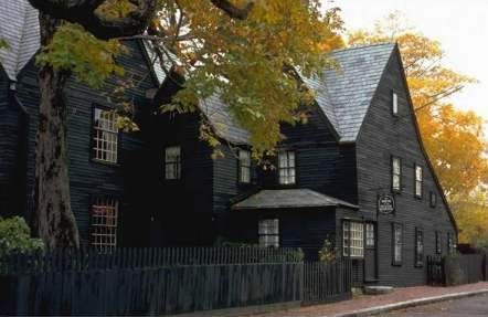 House of the Seven Gables, iconic example of shingle, Hawthorne book, kind of spooky, maybe not good