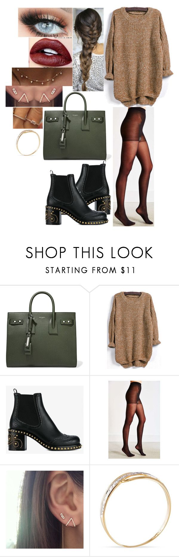 """""""Sans titre #3150"""" by styles-of-outfits ❤ liked on Polyvore featuring Yves Saint Laurent, Miu Miu and ColourPop"""