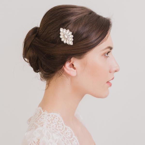 Wedding hair comb; art-deco crystals - 'Alena'