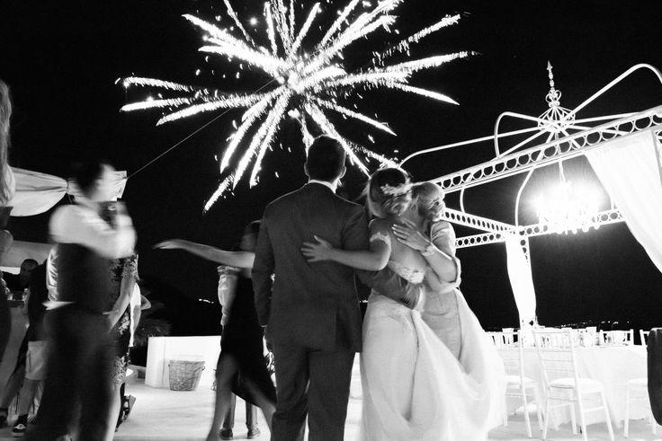 Fire Works, Sparkles, Glitter, Shine, Moments, Skyline, Black And White, Together, Dance Floor, Santorini Weddings