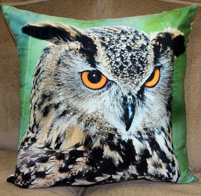 Staring owl cushion in green #Cushion | #Owl | #Sale | #GreenCushion | #PhilBee | #GreenandBrown | #Decor | #Melbourne | #Interiors | #InteriorDecorator | #Cushions | #OwlCushion
