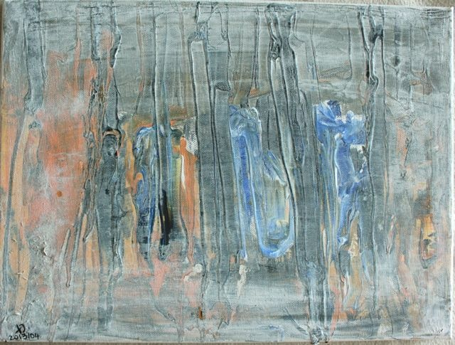 "Daniel Thalheim, ""Spring"", 2013, Acryl on Canvas, 40 x 30 cm (Privatbesitz)"