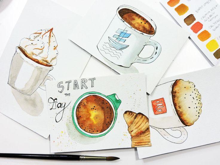 Start The Day Postcad by Mira Metzler