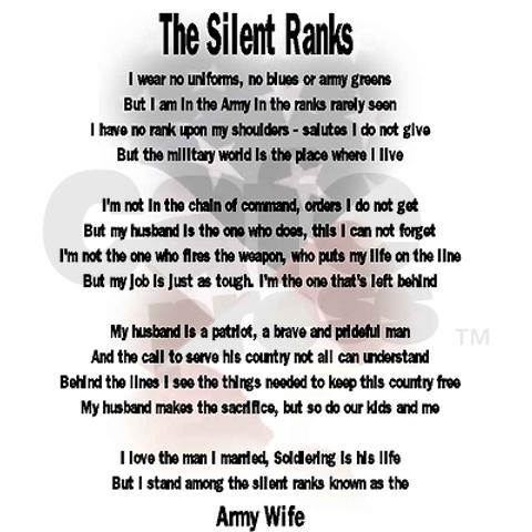 the silent ranks  army wife