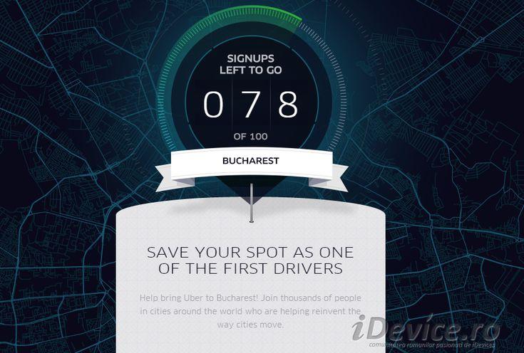 """Uber vine în România, acceptă înscrieri pentru primii 100 de """"taximetristi"""""""