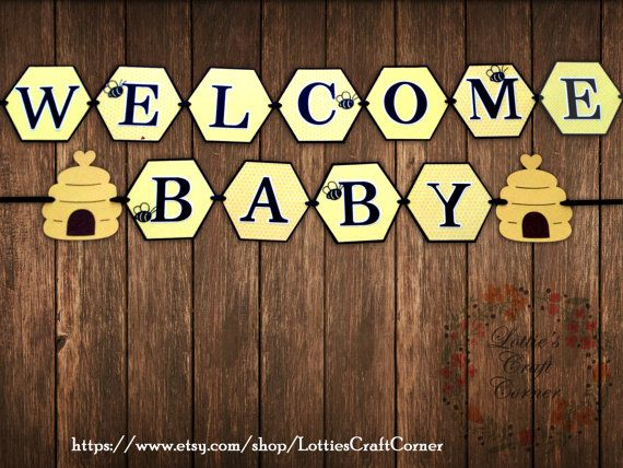 Bumble Bee Baby Shower Banner by LottiesCraftCorner on Etsy, $23.00