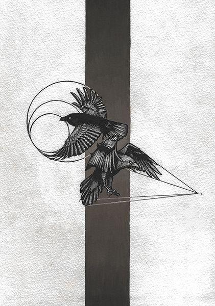 «Вороны Пушкина». Тимур Кошка #helloposter #poster #posters #art #modernart #printart #illustrators #illustration