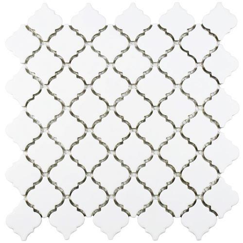 Hudson Tangier Arabesque Matte White 12 3 8 X12 1 2 Porcelain Mosaic Porcelain Mosaic Tile Porcelain Mosaic Mosaic Flooring