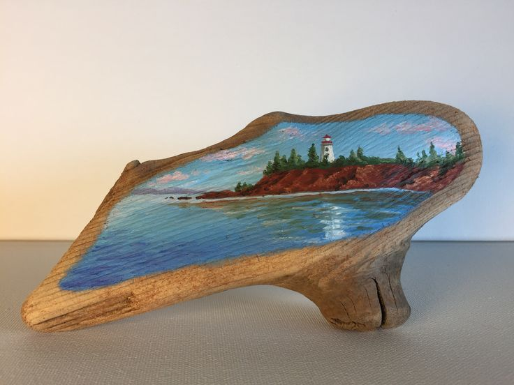 Lighthouse done on an amazing piece of driftwood