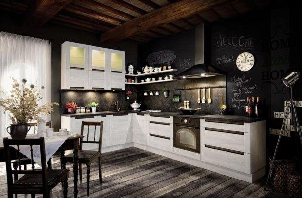 Tablica w kuchni - farba tablicowa inspiracje123 Budujemy budowa domu