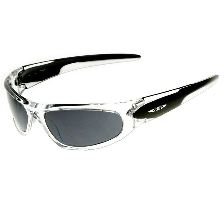 X-Loop Brand Two-Tone Wraparound Sports Sunglasses