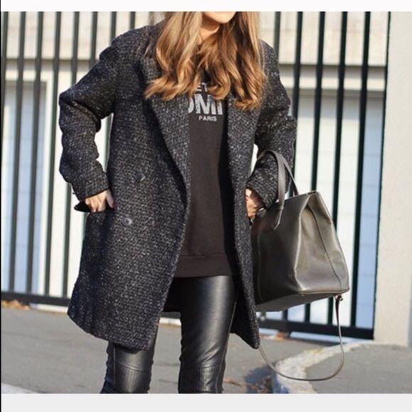 Boucle coat Black/grey boucle coat Jackets & Coats