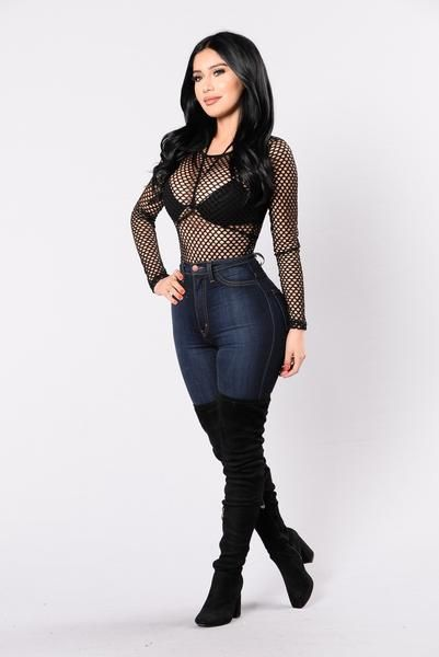 Night Is Almost Done Bodysuit - Black