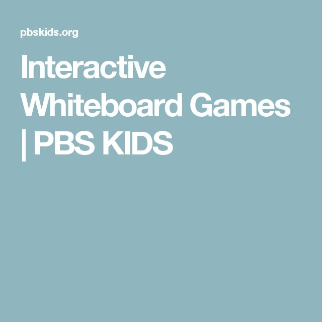 Interactive Whiteboard Games | PBS KIDS
