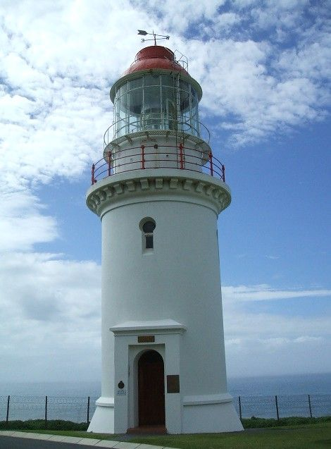 Lighthouses of South Africa.  Hood Point Lighthouse - East London. Joe Viljoen