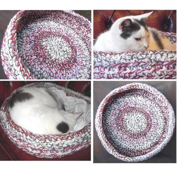 Pet Circular Bed Basket Pattern - crochet
