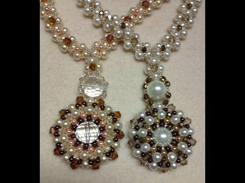 Pearl Wheel Necklace Tutorial - YouTube
