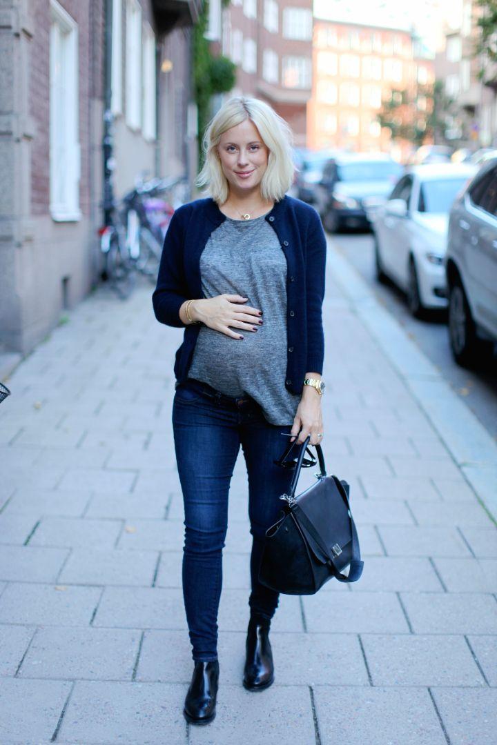 Jennie Hammar visar magen i snyggt gravidmode - amelia