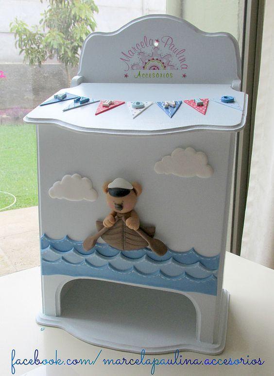 Porta pañal para decorar el cuarto del bebe: