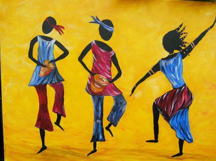 Danse africaine afrique pinte - Africaine dessin ...