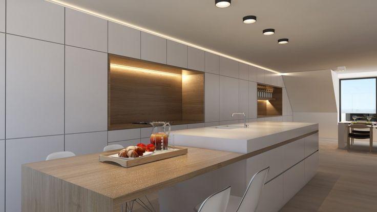 25 beste idee n over kookeiland tafel op pinterest keukeneetkamer hedendaagse keukens en for Interieur design huis