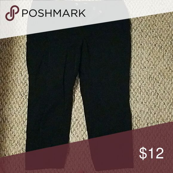 Black Gap Capris Black capris from the Gap Factory. Have a skinny jean feel. Not loose fitting. Back pockets. Pants Capris