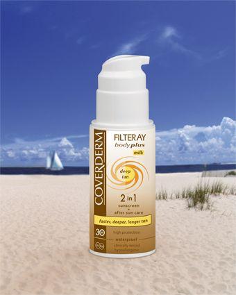 Coverderm Filteray Body Plus Deep Tan Milk SPF30/50+