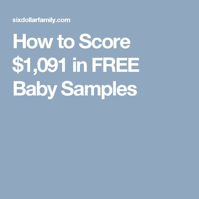 How to Score $1,091 in FREE Baby Samples