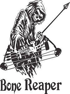Bone Grim Reaper Bow Hunting Decal - $14.99