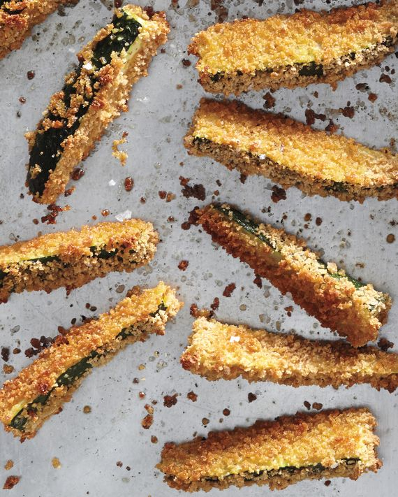 Mix it up with vegetable, not the usual potato, fries. These panko-crusted wonders transform the ubiquitous zucchini into an irresistible side.