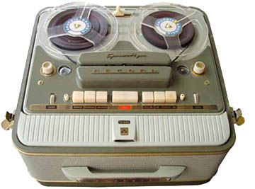 TAPE RECORDER-SOMETIMES WE WOULD RECORD PICK OF THE POPS OFF THE RADIO ON SUNDAY EVENING