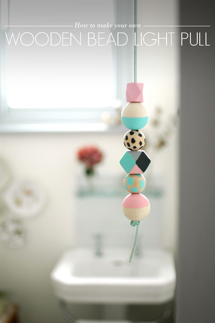 How to Make Your Own Wooden Bead Light Pull - AO Life